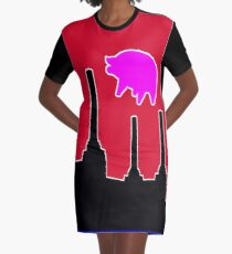 PINK FLOYD FLYING PIG OVER BATTERSEA Graphic T-Shirt Dress