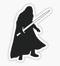 Jon Snow - Game of Thrones Silhouette Sticker