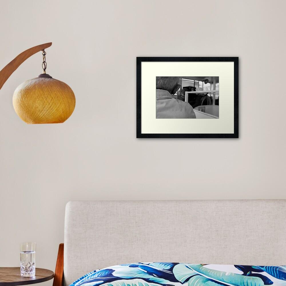 Rain on The Tourist Framed Art Print