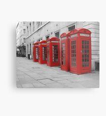 Red Telephone Boxes Metal Print