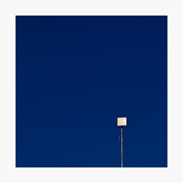 White Square on Blue Photographic Print