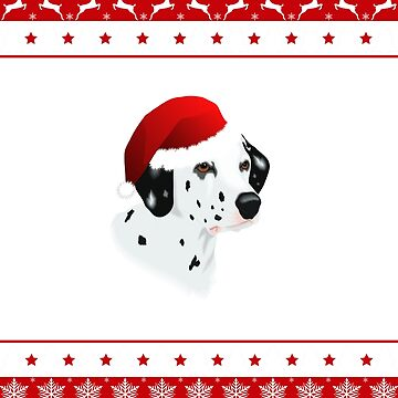 Dalmatian Santa Hat Merry Christmas by Sleazoid