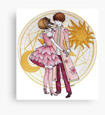 Sakura and Syaoran's dancing Canvas Print
