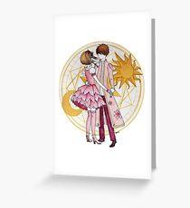 Sakura and Syaoran's dancing Greeting Card