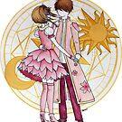 Sakura and Syaoran's dancing by studinano