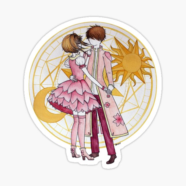 Sakura and Syaoran's dancing Sticker