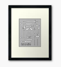 The Weapons of the Company - Black and White Framed Print