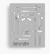 The Weapons of the Company - Black and White Canvas Print