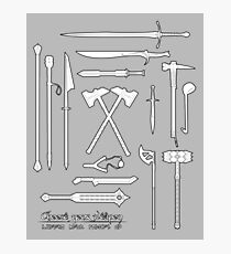 The Weapons of the Company - Black and White Photographic Print