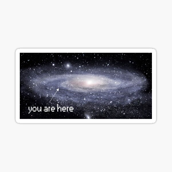 You are here Sticker