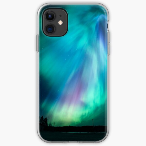 Beautiful northern lights iPhone Soft Case