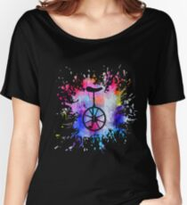 Unicycle Paint Splatter Women's Relaxed Fit T-Shirt