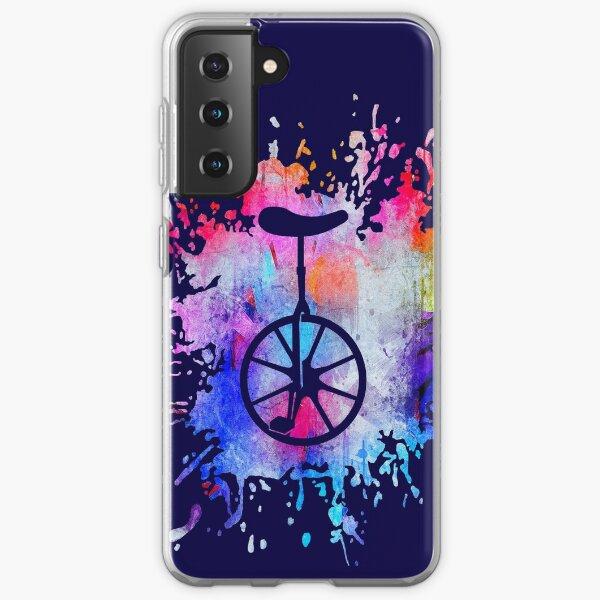 Unicycle Paint Splatter Samsung Galaxy Soft Case