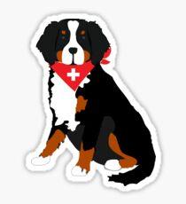 Bernese Mountain Dog Swiss Cross Sticker