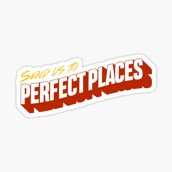 Lugares perfectos Pegatina