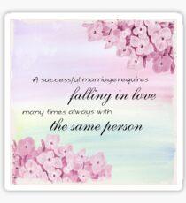 Successful marriage Sticker