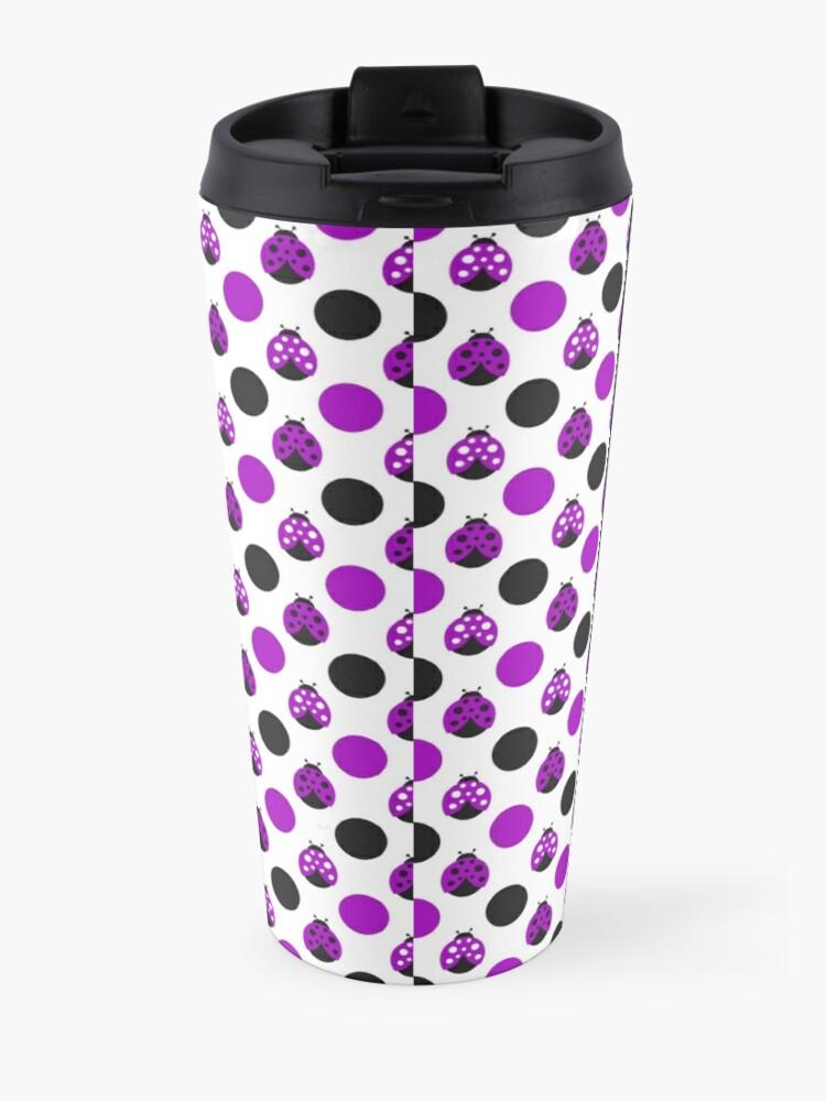 Alternate view of Purple Ladybugs Travel Mug