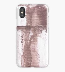 Brown blurred watercolor picture iPhone Case/Skin