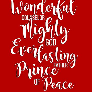 Wonderful Counselor Christmas Design| Christian Christmas Gift | Isaiah 9:6 | by Dlinca