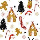 Cute Colorful Christmas Symbols Colorful Pattern by artonwear