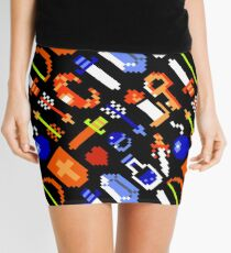 Legend of Zelda NES / items / pattern / black Mini Skirt