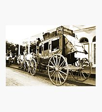 Wells Fargo Stage Coach Photographic Print