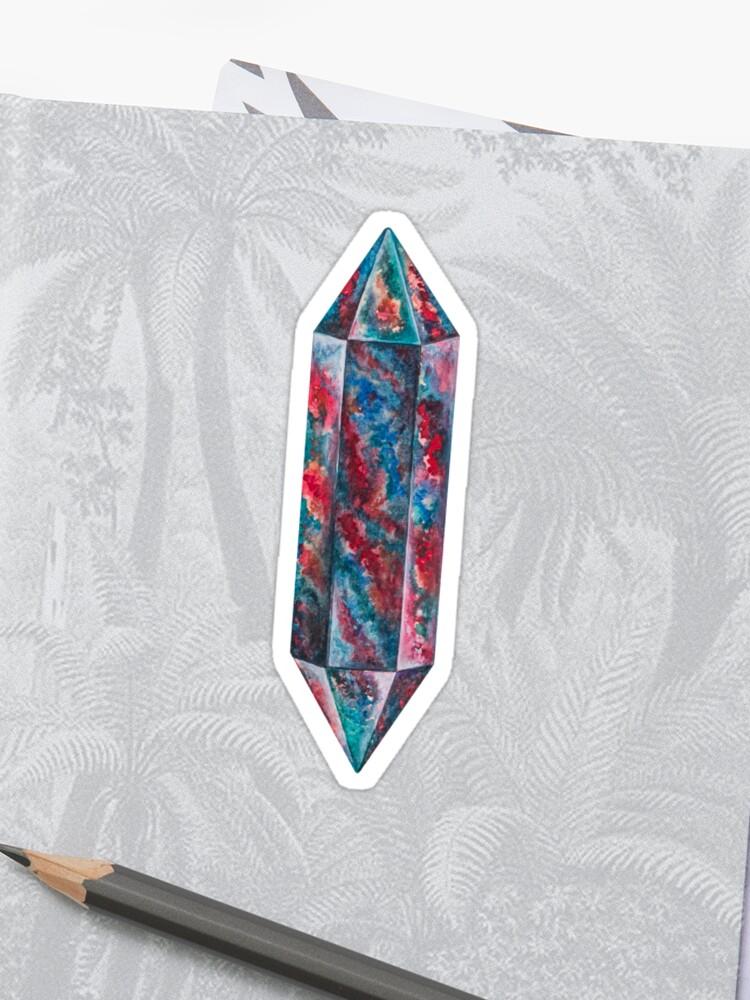 Bloodstone gem polished crystal stone March birthstone   Sticker