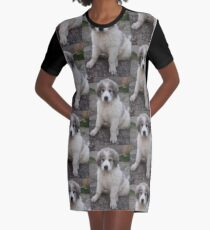 great pyrenees puppy Graphic T-Shirt Dress
