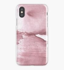 Rosy brown blurred watercolor texture iPhone Case/Skin