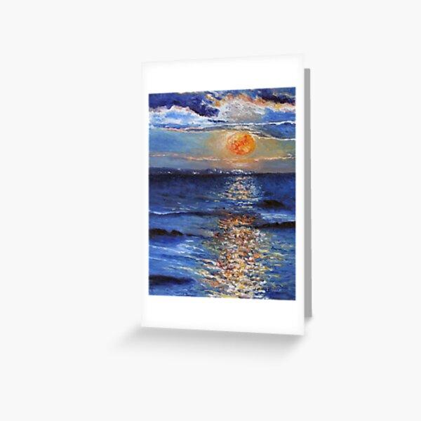 Christmas Day Full Moonrise 2015 Greeting Card