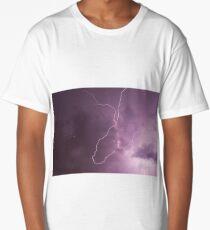 Lightning in storm cloud at night Long T-Shirt