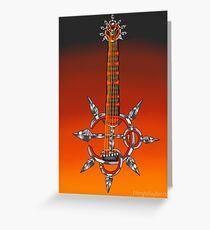 Keyblade Guitar #6 - Bond of Flame Greeting Card
