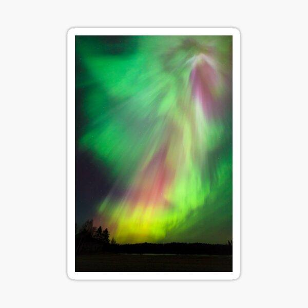 Big beautiful multicolored northern lights Sticker