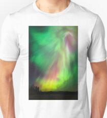 Große schöne bunte Nordlichter Slim Fit T-Shirt