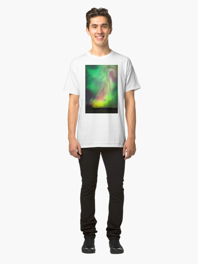 Alternate view of Big beautiful multicolored northern lights Classic T-Shirt