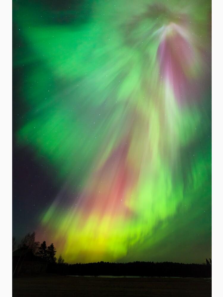 Big beautiful multicolored northern lights by Juhku