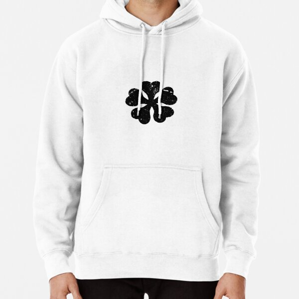 Schwarzes Klee-Anime-Logo-T-Shirt für Anime-Liebhaber Hoodie
