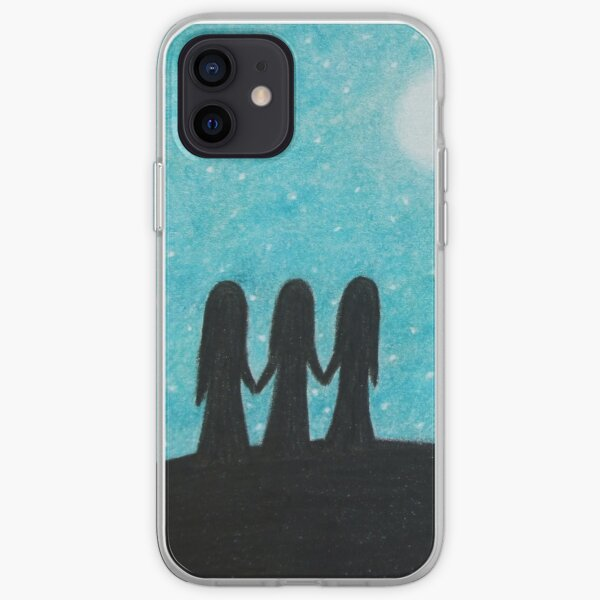 Three Sisters, Moon, Stars and Tree iPhone Soft Case