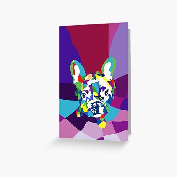 Französische Bulldogge Welpe Grußkarte