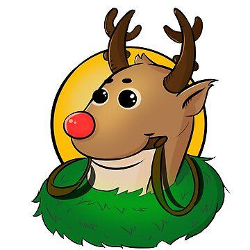 Winter Reindeer by MoonpixStudios