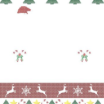 Ugly Christmas Sweater Dinosaur T-Rex Tyrannosaurus Rex by Sleazoid