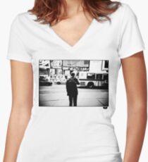 Road Cross Women's Fitted V-Neck T-Shirt