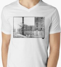 photo fade building Men's V-Neck T-Shirt