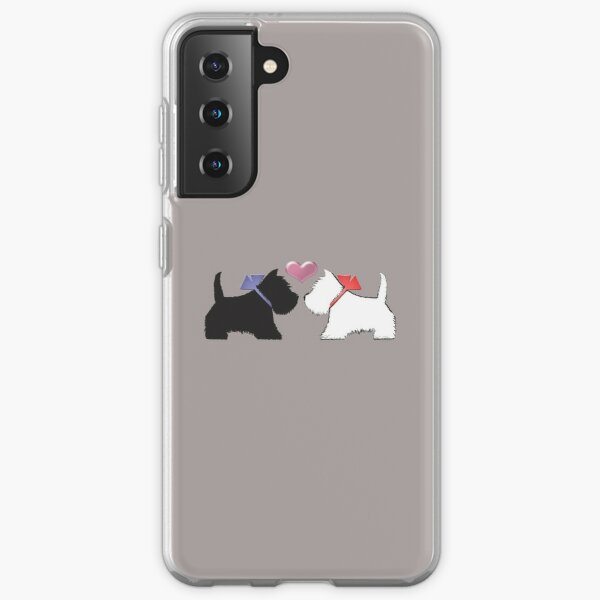 Westie Dog and Scotty Dog Art Samsung Galaxy Soft Case