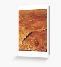 Abstract desert Greeting Card