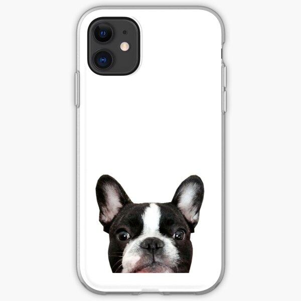 French bulldog, Vincent the frenchie iPhone Soft Case