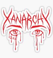 Lil Xan Anarchy red Sticker