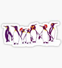 Happy Christmas Penguins Sticker