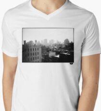 cityscape Men's V-Neck T-Shirt