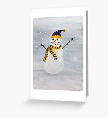 Snowman-Minnesota Style Greeting Card